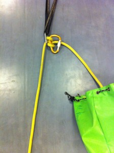 Carabiner Block (clove hitch must be located on spine of carabiner block)
